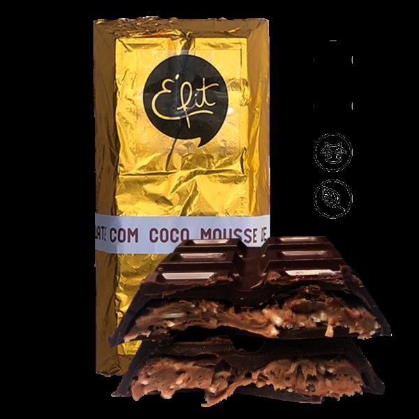 Mousse de chocolate com coco