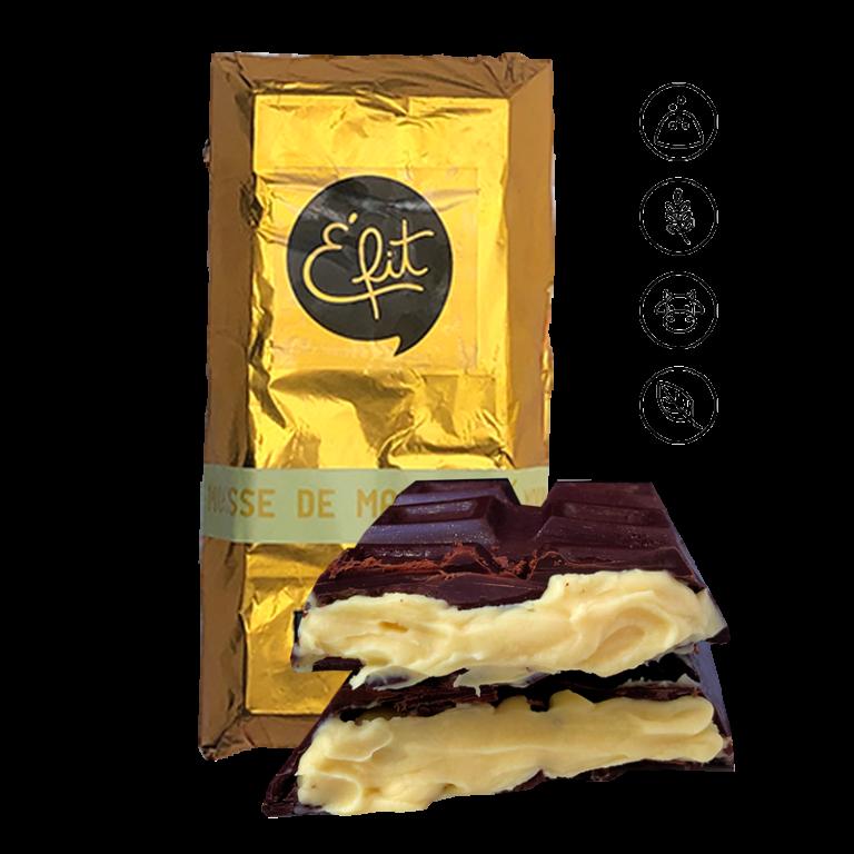 Mousse de maracujá com chocolate 70%