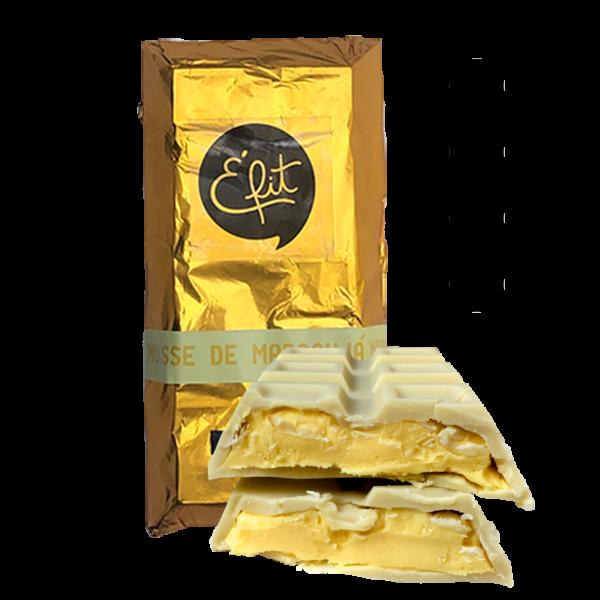 Mousse de maracujá com chocolate branco